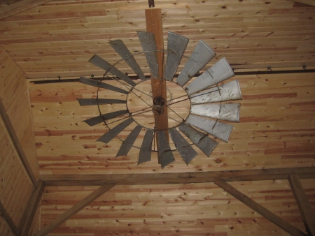 Windmill ceiling fan over the loft