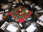 Festive table arrangements
